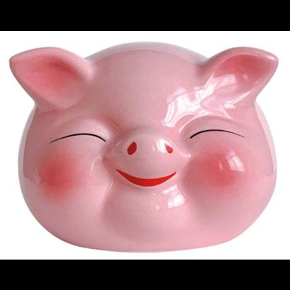 non food Geluksvarken roze spaarpot 10cm