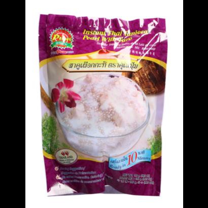 Madam Pum Instant tapioca parels met taro Thais dessert 180g