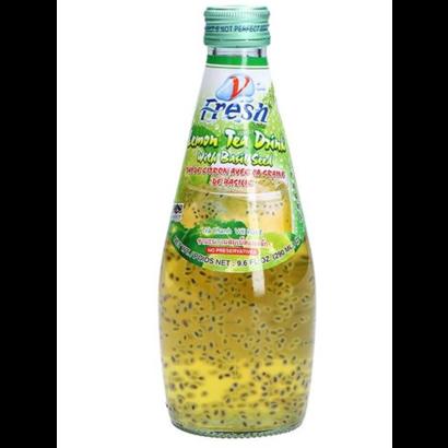 V-Fresh Citroengrasdrank met basilicum zaadjes