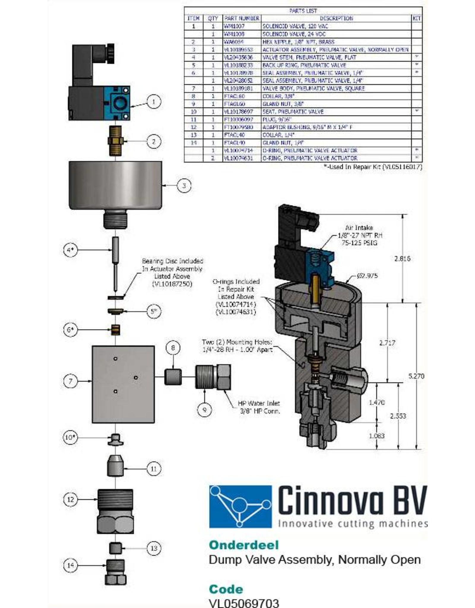 KMT Style Piston, Pneumatic Valve