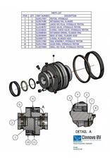 KMT Style Rebuild Kit, Hydraulic Piston, Assembly, SL4, SL4+