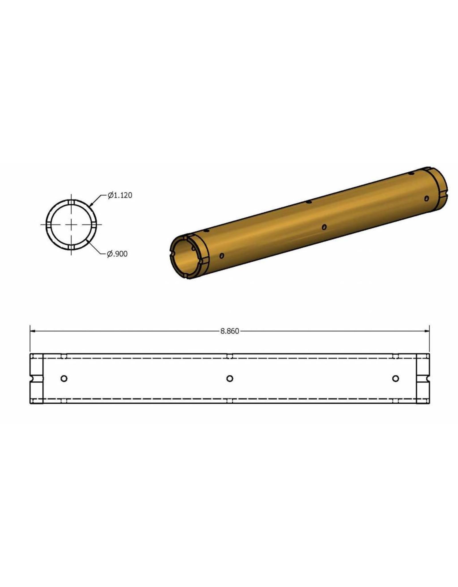 KMT Style Liner, High Pressure Cylinder, SL5, 100S, Brass