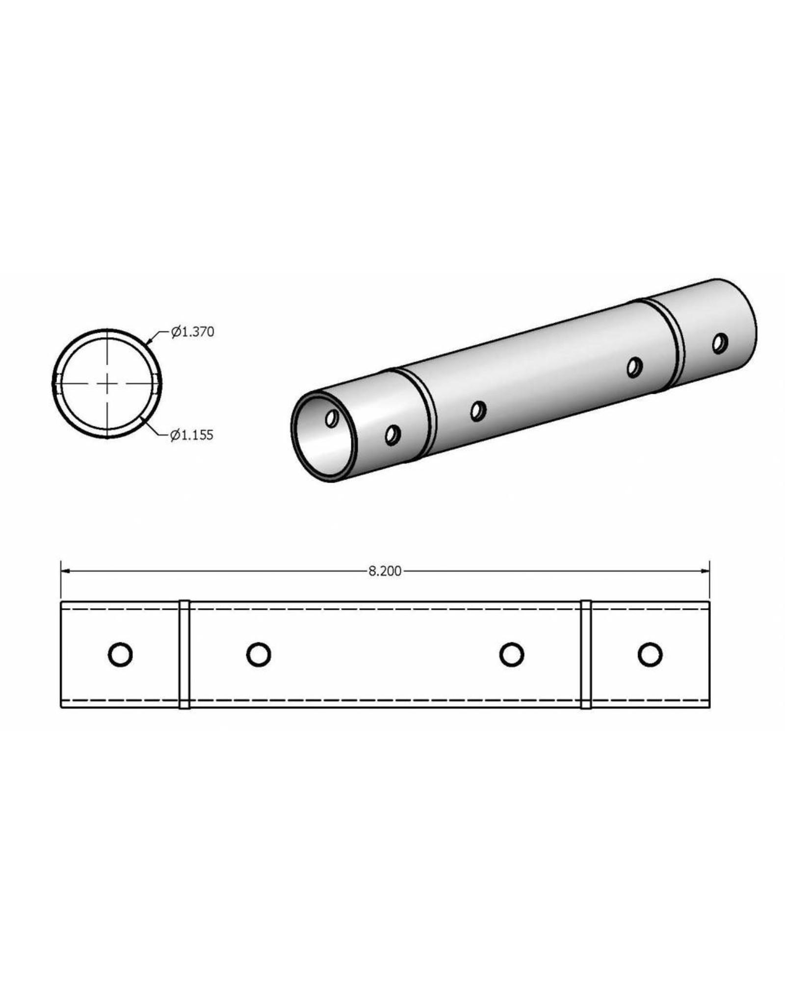 KMT Style Liner, HP Cylinder, Plastic, SLV, 75S/100S, Single Inlet