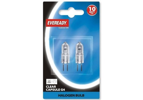 Eveready 10W G4 12V Halogeen 2-pack