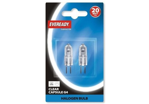 Eveready 20W G4 12V Halogeen 2-pack