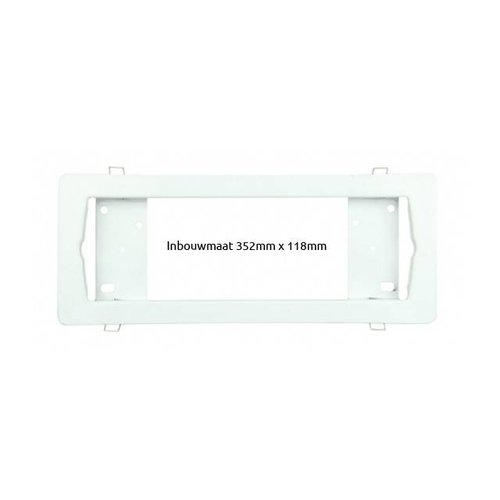 Inbouwframe wit tbv opbouw LED noodverlichting tbv FL41002