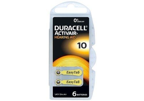 Duracell Hearing Aid Zinc-Air DA10 blister 6