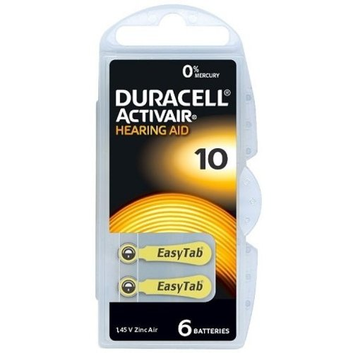 Duracell Hearing Aid 10 6-pack