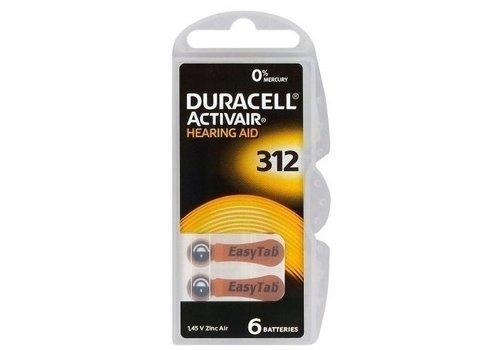 Duracell Hearing Aid Zinc-Air DA312 blister 6