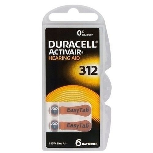 Duracell Hearing Aid 312 6-pack