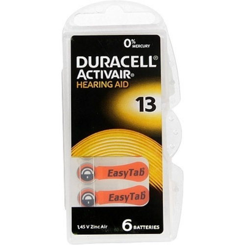 Duracell Hearing Aid Zinc-Air DA13 blister 6