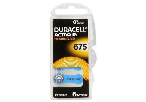 Duracell Hearing Aid Zinc-Air DA675 blister 6