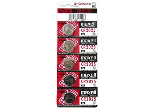 Maxell CR2025 3V 5-pack