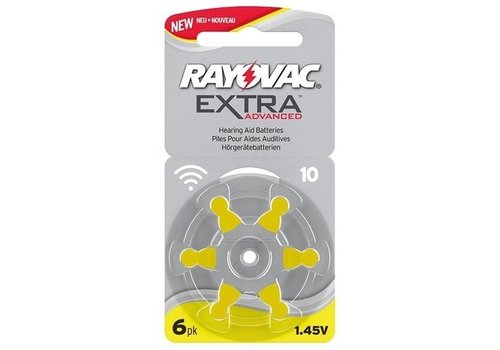 Rayovac Extra Advanced Hearing Aid Zinc-Air P10 blister 6