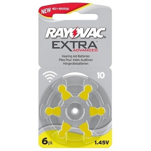 Rayovac Extra Advanced Hearing Aid Zinc-Air P10 blister 6