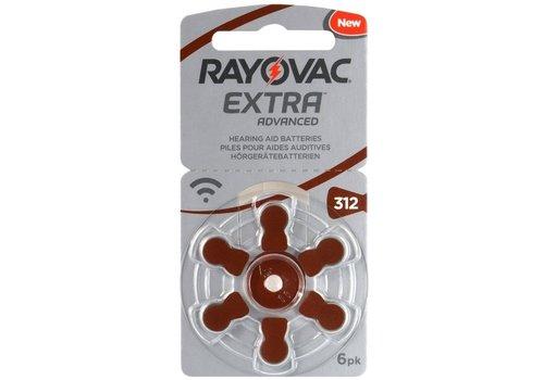 Rayovac Extra Advanced H312 6-pack