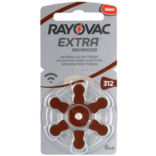 Rayovac Extra Advanced H312 6-pack