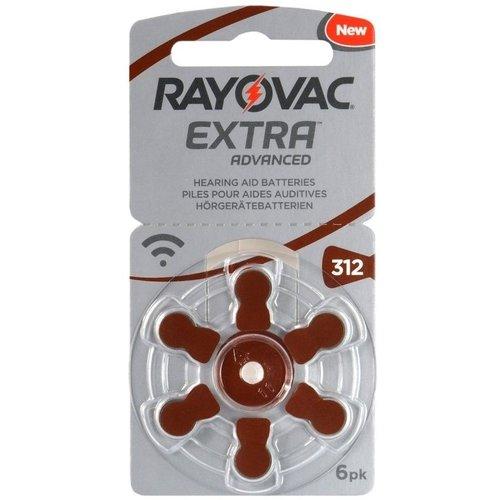 Rayovac Extra Advanced Hearing Aid Zinc-Air P312 blister 6