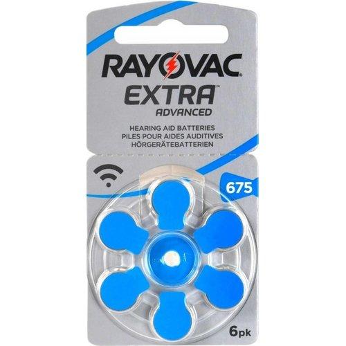Rayovac Extra Advanced Hearing Aid Zinc-Air P675 blister 6