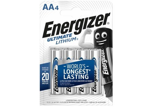 Energizer L91 AA Lithium 4-pack