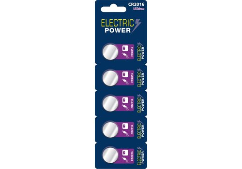 Electric Power CR2016 3V 5-pack