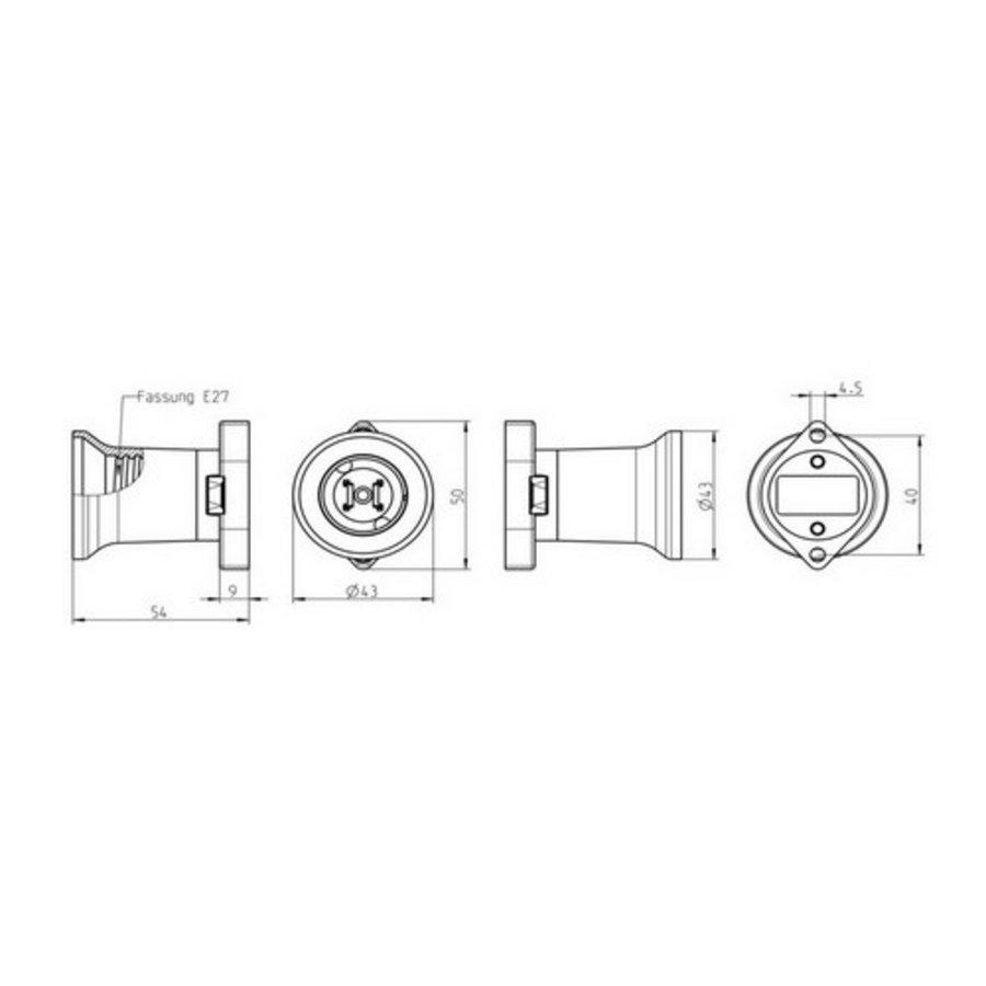 MONTEERBAAR PRIKFITTING E27 ZWART MAX:40W-2