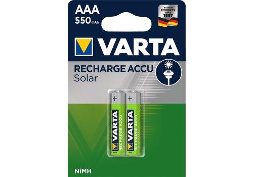 Varta Recharge Accu Solar AAA 550mAh Blister 2
