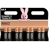 Duracell LR06 AA Simply 8-pack