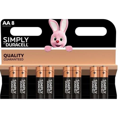 Duracell Simply AA/LR06 blister 8