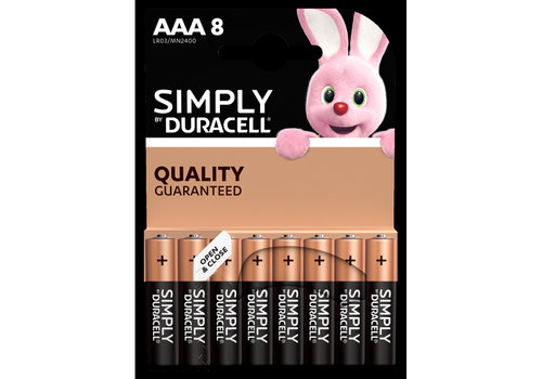 Duracell LR03 AAA Simply 8-pack