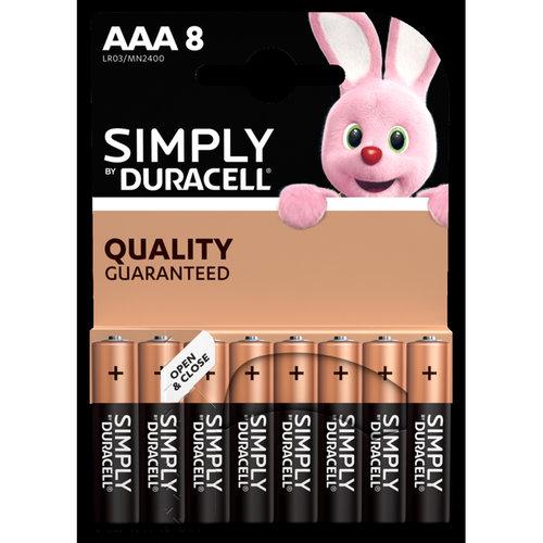 Duracell Simply/Basic AAA/LR03 blister 8