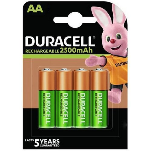 Duracell Rechargeable NimH Stay Charged AA/HR6 2500mAh blister 4