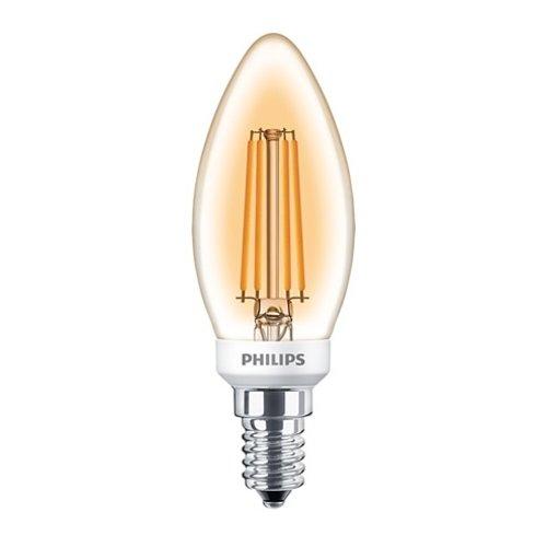 Philips Classic LEDCandle 5W-32W E14 B35 825 Gold Dimbaar