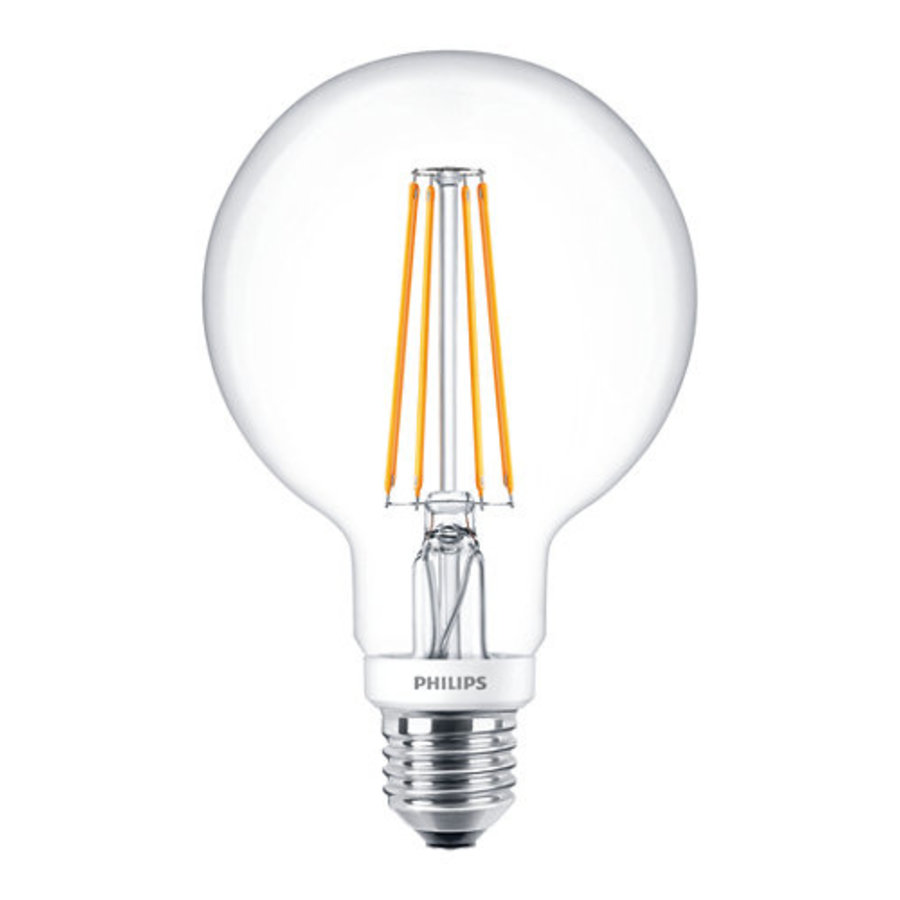 Classic LEDGlobe 8W-60W E27 G93 827 CL Dimbaar