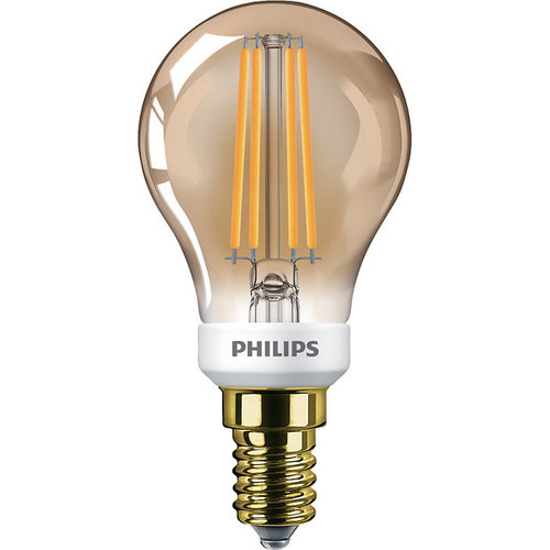 Philips Classic LEDLuster D 5-32W P45 E14 822 GOLD Dimbaar