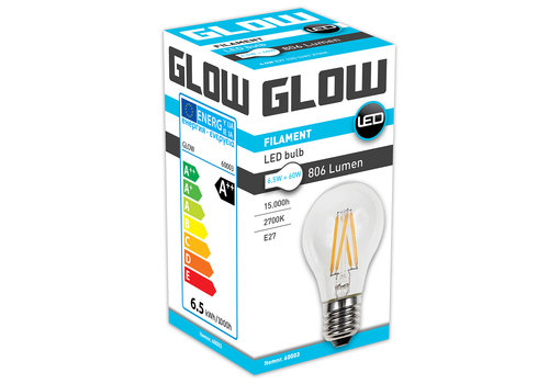 GLOW LED FILAMENT NORMAAL 6.5W-60W E27 A60 806LM ND