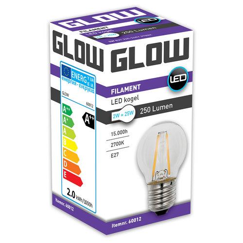 GLOW LED FILAMENT KOGEL 2W-25W E27 G45 250LM ND
