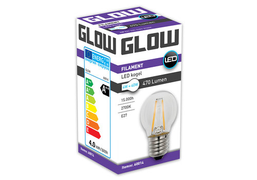 GLOW LED FILAMENT KOGEL 4W-40W E27 G45 470LM ND