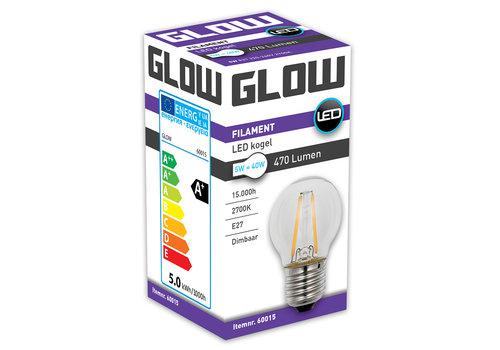 GLOW LED FILAMENT KOGEL 5W-40W E27 G45 470LM DIMBAAR