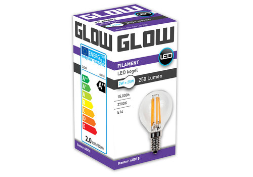 GLOW LED FILAMENT KOGEL 2W-25W E14 G45 250LM ND