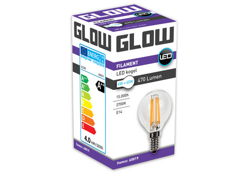 GLOW LED FILAMENT KOGEL 4W-40W E14 G45 470LM ND