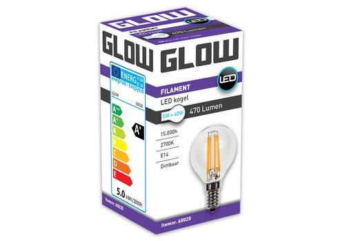 GLOW LED FILAMENT KOGEL 5W-40W E14 G45 470LM DIMBAAR