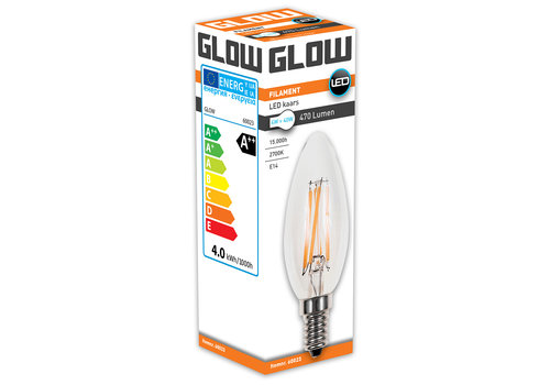 GLOW LED FILAMENT KAARS 4W-40W E14 C35 470LM ND