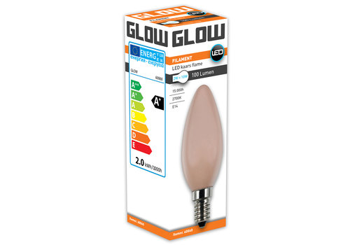 GLOW LED FLAME KAARS 2W-10W E14 C35 100LM ND