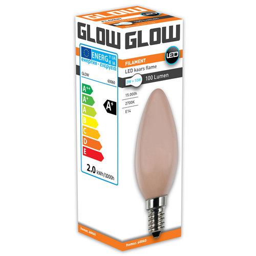 GLOW Flame Kaars E14 2W(=10W) 1900K 100LM