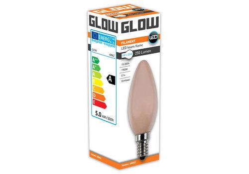 GLOW LED FLAME KAARS 5W-25W E14 C35 250LM DIMBAAR
