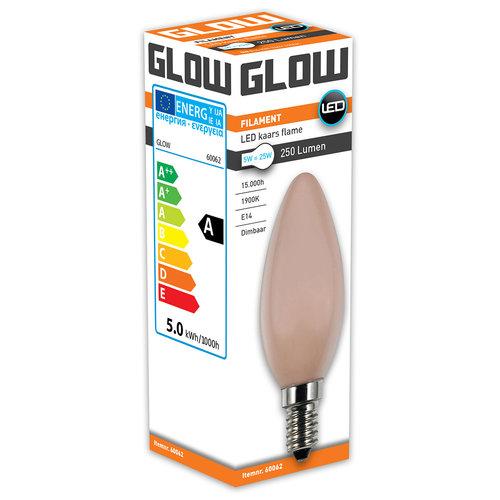 GLOW Flame Kaars E14 5W(=25W) 1900K 250LM DIMBAAR