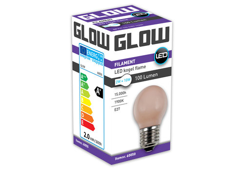 GLOW LED FLAME KOGEL 2W-10W E27 G45 100LM ND