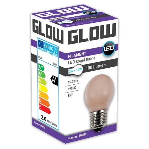 GLOW LED FLAME KOGEL 2W-10W E27 G45 100LM ND