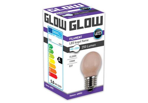 GLOW LED FLAME KOGEL 5W-25W E27 G45 250LM DIMBAAR